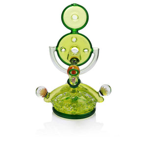 Hand Blown GLASS WATER PIPE by Charli Glass Swiss Recycler - Illuminati w/Marble Implosions