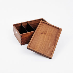 Marley Natural Storage Black Walnut Lock Box - BHANGO HEAD SHOP - Premium Glass, Vape and Cannabis Accessories