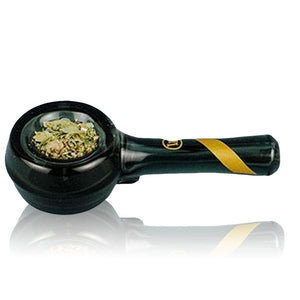 Marley Natural Smoked Glass Spoon Pipe With Gold Stripe for Herbs - BHANGO HEAD SHOP - Premium Glass, Vape and Cannabis Accessories