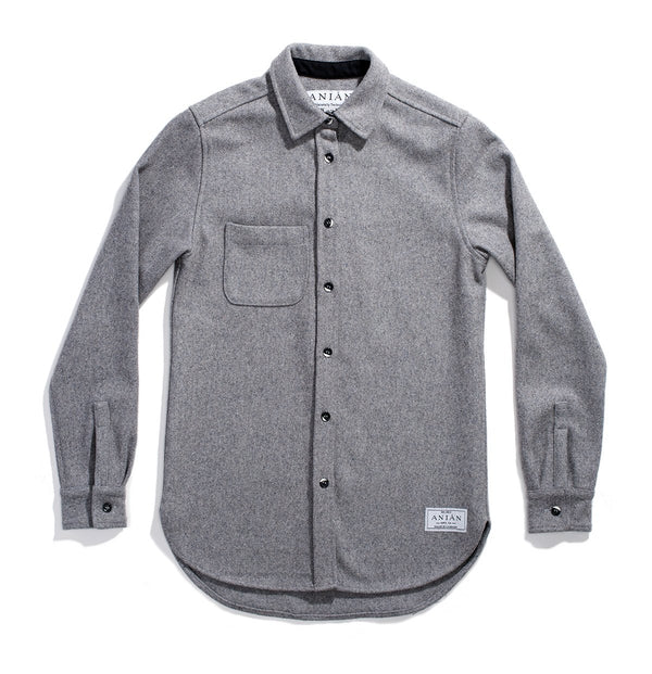 Women's Grey 14oz Modern Melton Shirt