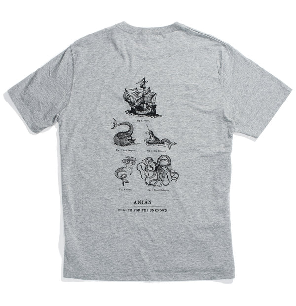 Sea Monster Grey Cotton Tee