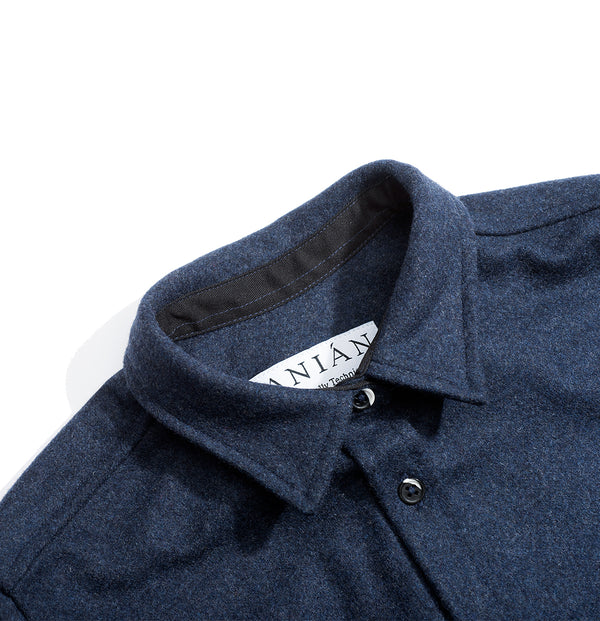 Women's Navy 14oz Modern Melton Shirt