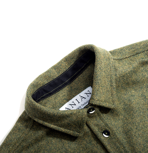 Moss 14oz Modern Melton Wool Shirt