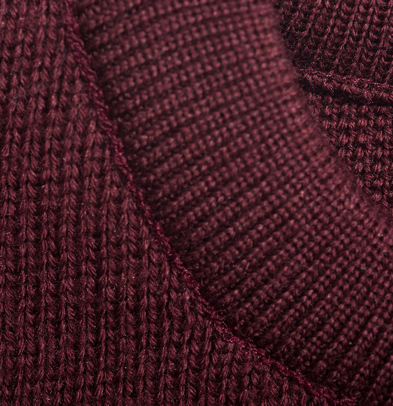 The Fisherman Sweater Maroon