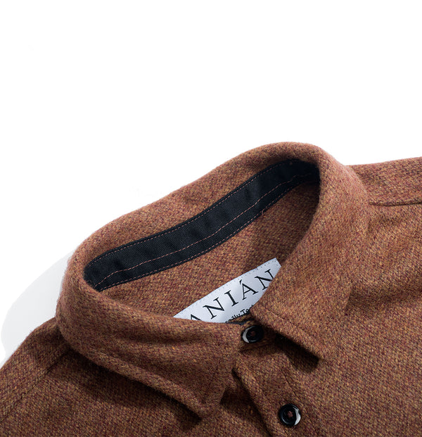 Rust 14oz Modern Melton Wool Shirt