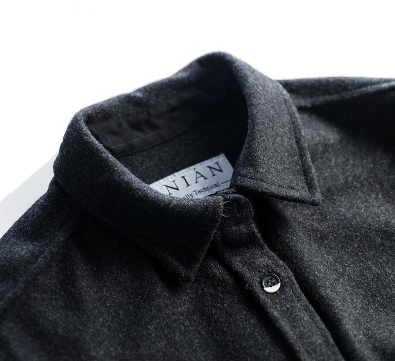 Women's Dark Grey 14oz Modern Melton Shirt