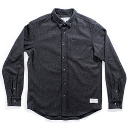 Men's Dark Grey 14oz Modern Melton Wool Shirt