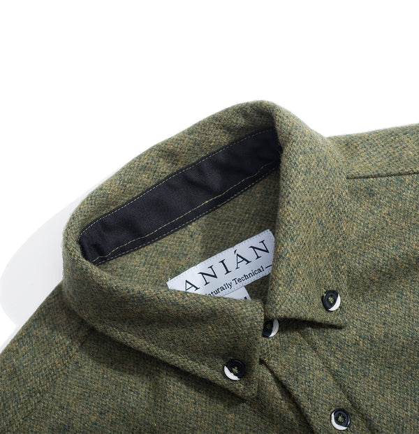 Men's Moss 14oz Modern Melton Wool Shirt