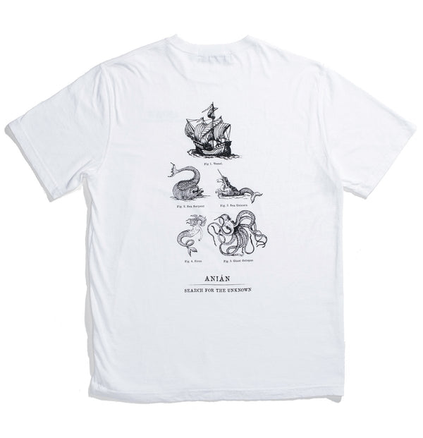 Sea Monster White Cotton Tee