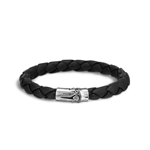 John Hardy Bamboo Black Leather Bracelet