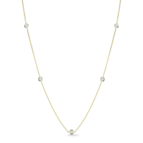 Diamonds by the Inch 5 Station Necklace