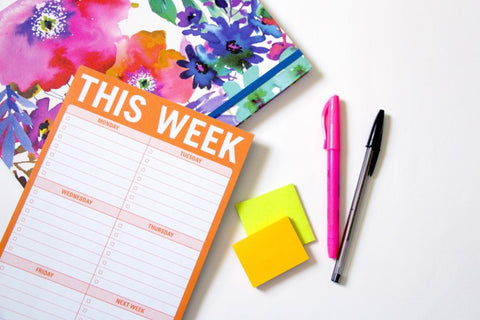 To do notepad with every day of the week