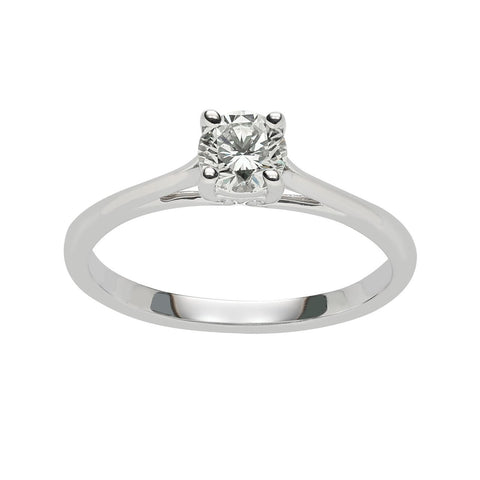 Fink's Exclusive 14K White Gold Solitaire Diamond Cathedral Engagement Ring
