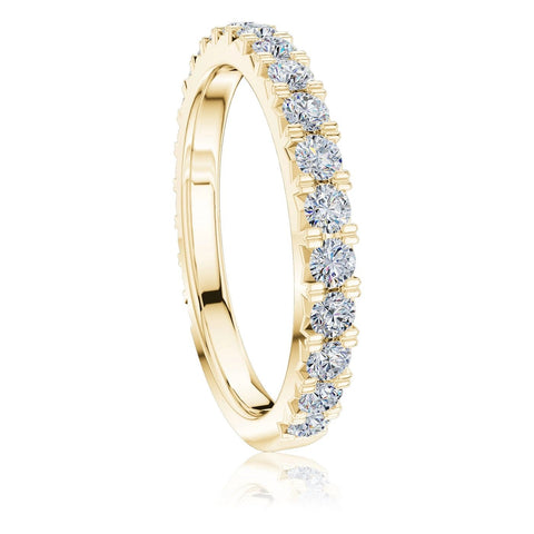 The Studio Collection Yellow Gold 22 Stone Prong Set Wedding Band