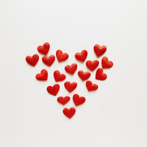 Heart made out of little hearts