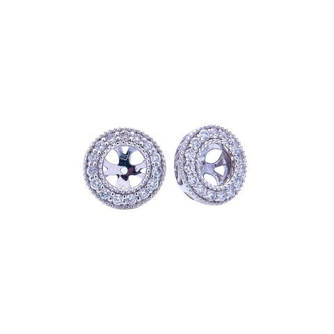 Sabel Collection 14K White Gold Diamond Earring Jackets