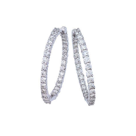 Perfect Diamond Small Hoop Earrings Roberto Coin Fink's