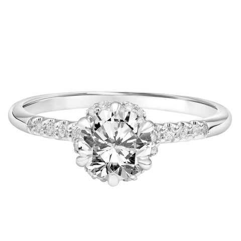 Fink's Exclusive 14K White Gold Round Diamond Six Prong Engagement Ring