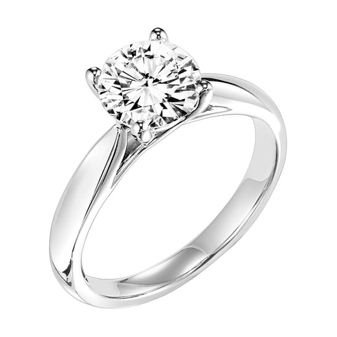 Fink's Exclusive Round Diamond Solitaire Four Prong Engagement Ring
