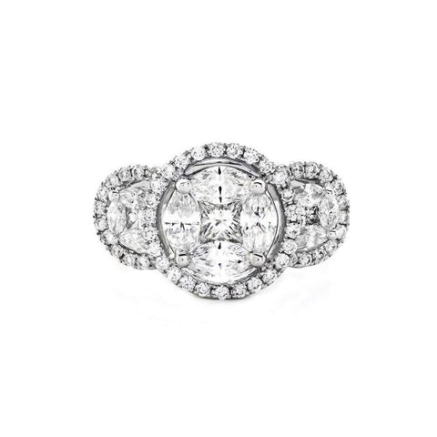 Sabel Collection Round and Princess Cut Diamond Ring