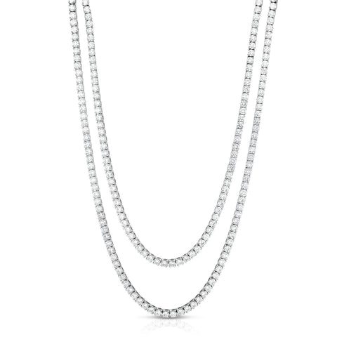 30.30cttw Two-Row Diamond Tennis Necklace Fink's