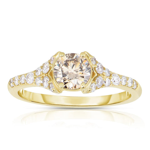 Sabel Collection 14K Yellow Gold Fancy and White Diamond Shank Ring