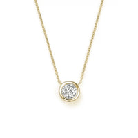 Roberto Coin Diamonds by the Inch Diamond Bezel Necklace in 18K Yellow Gold