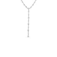 Roberto Coin Diamonds by the Inch 18K White Gold Diamond Bezel Lariat Necklace