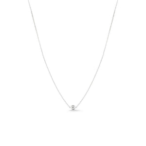 Roberto Coin Diamonds by the Inch 18K White Gold Diamond Bezel Pendant Necklace