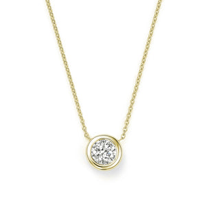Roberto Coin Tiny Treasures 18K Yellow Gold Bezel Set Diamond Necklace