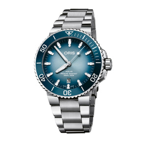 Oris Aquis Lake Baikal Limited Edition Blue Dial Watch with Bracelet