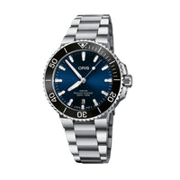 Oris Aquis Date Automatic Dark Blue Dial Watch with Bracelet