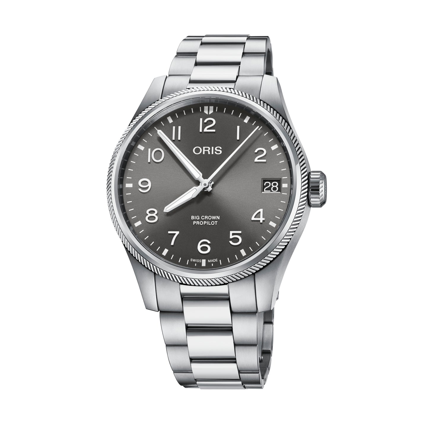 Oris Big Crown ProPilot Date Grey Dial Watch with Bracelet