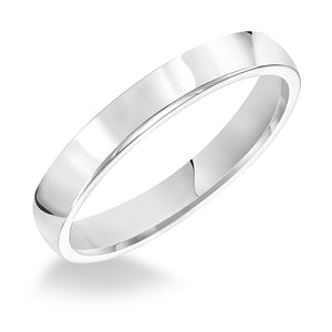 Fink's Men's 3mm 14K White Gold Low Dome Comfort Fit Wedding Band