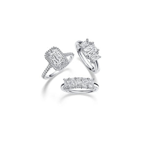 Fink's Exclusive Platinum ASHOKA® Three Stone Engagement Ring