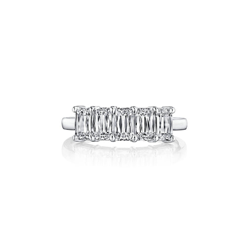Fink's Platinum ASHOKA® Diamond Five Stone Wedding Band