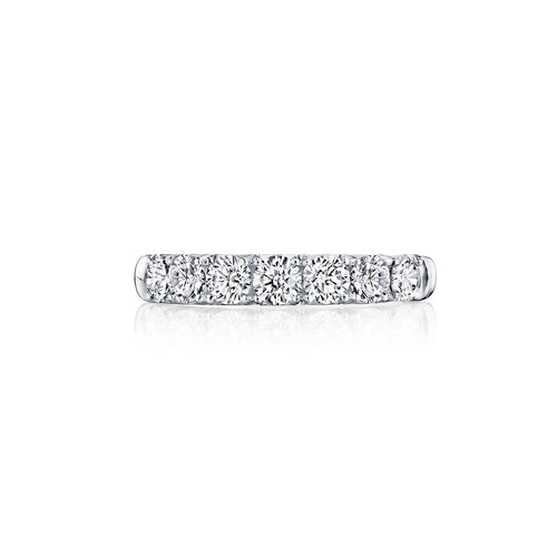Fink's 14K White Gold Seven Stone Diamond Wedding Band