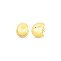 Roberto Coin Designer Gold 18K Yellow Gold Domed Earrings