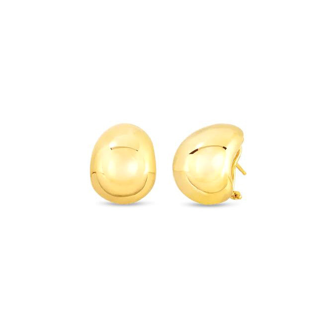 Roberto Coin Chic and Shine 18K Yellow Gold Domed Earrings
