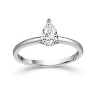 Fink's Exclusive 14K White Gold Pear Shape Diamond Solitaire Engagement Ring