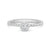 Load image into Gallery viewer, Forevermark Tribute™ Collection 18K White Gold Diamond Bezel Beaded Shank Stacking Ring