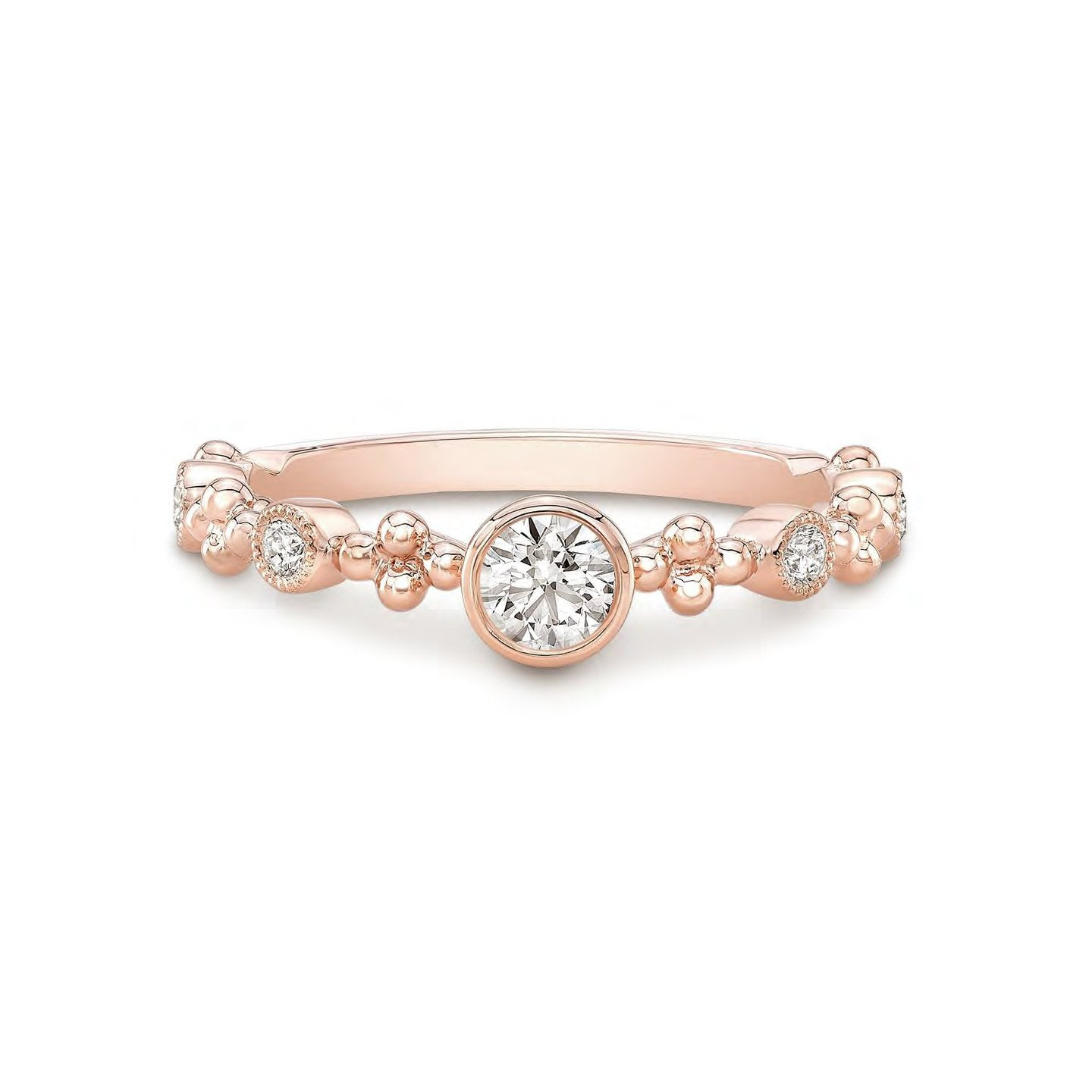 Forevermark Tribute™ Collection 18K Rose Gold Multi-Stone Stacking Ring
