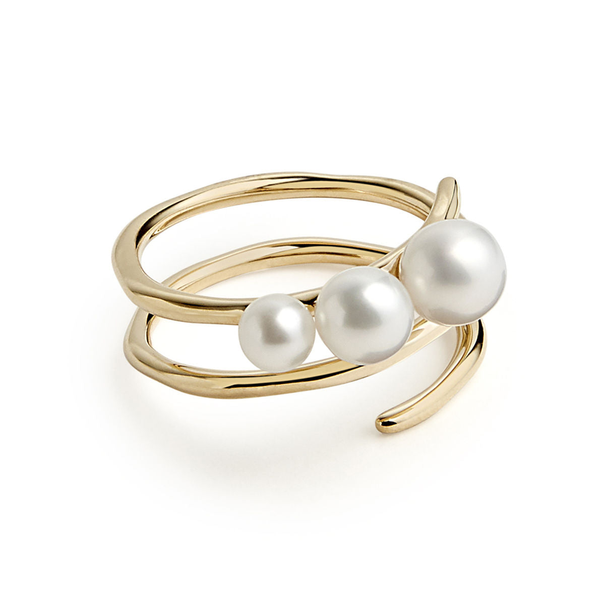 IPPOLITA Nova 18K Yellow Gold Pearl Spiral Ring