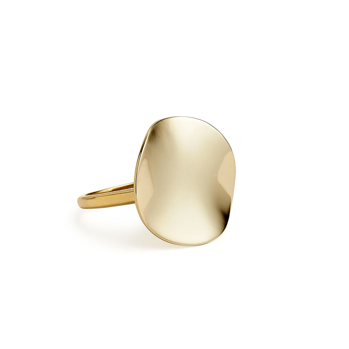 IPPOLITA Classico 18K Yellow Gold Wavy Disc Ring