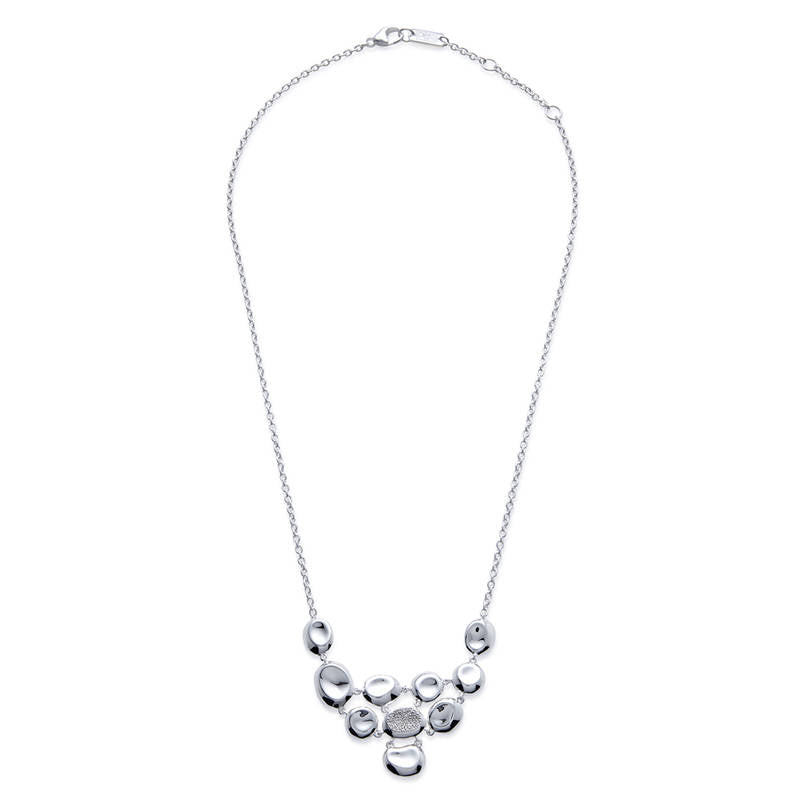 IPPOLITA Classico Sterling Silver Onda Diamond Pavé Bib Necklace