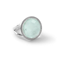 IPPOLITA Lollipop® Sterling Silver Ring with Diamonds in Clear Quartz, Mother-of-Pearl, and Amazonite