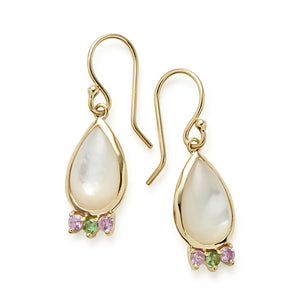 IPPOLITA Prisma 18K Yellow Gold Mother-of-Pearl Teardrop Earrings with Gemstone Accents
