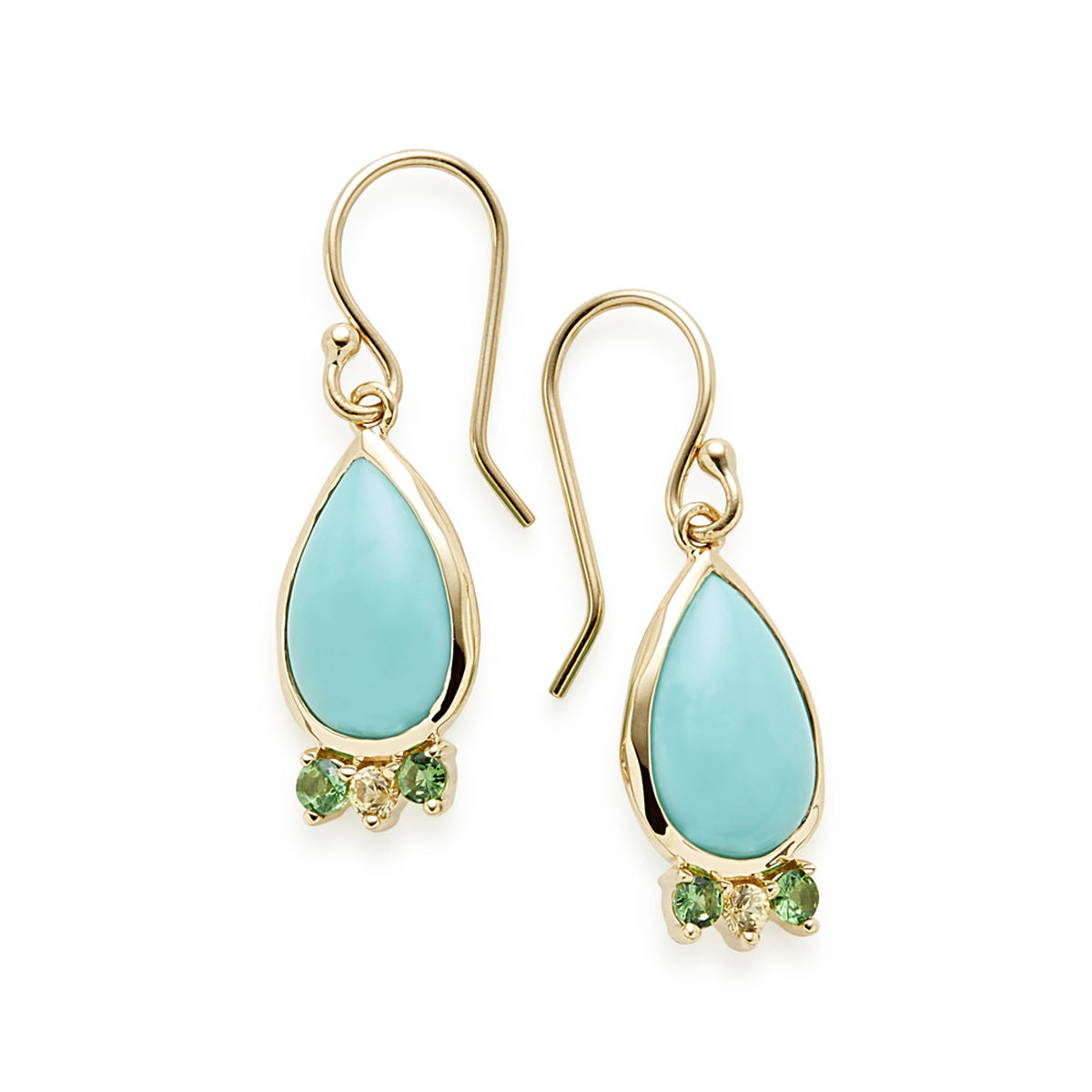 IPPOLITA Prisma 18K Yellow Gold Mini Turquoise Teardrop Earrings with Gemstone Accents