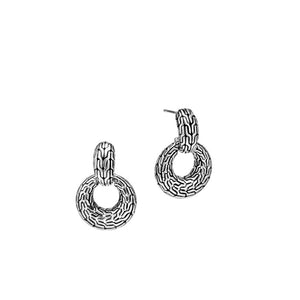 John Hardy Classic Chain Sterling Silver Door Knocker Earrings