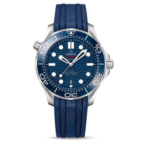 OMEGA Seamaster Diver 300M OMEGA Co-Axial Master Chronometer 42mm with Blue Rubber Strap